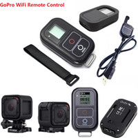 Wholesale Remote Control Gopro Hero - Freeshipping For GoPro Hero 4 Session Smart Waterproof WIFI Remote Control+Action Camera Remote Control Accessories