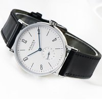Wholesale clock works - Mens Watches Top Brand Luxury nomos Famous Watches Fashion Casual Leather Men Watches Quartz Watch Clock small dials work