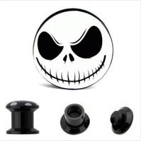 Acrylic Nightmare Internal Thread Ear Gauge Plug And Tunnel Stretcher Expander 4-16mm Screw Fit Plug Piercing