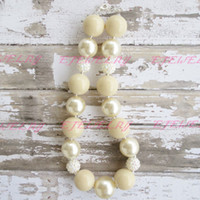 Wholesale Ivory Pearl Necklaces - Ivory Chunky Beaded Necklace..Chunky Necklace..Childrens Necklace..Pearl Necklace..Photo Prop CB105