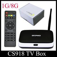 Android TV Box CS918 Q7 SH Live Streaming Canale MK888 Quad Core RK3188 1GB 8GB Smart TV Box HD1080P arabo IPTV OTH121