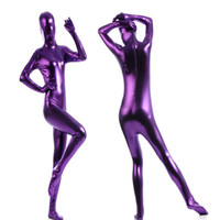 Wholesale Latex Shiny Suits - Wholesale-New Arrival Multicolor Practical Full Body Zentai Suit Cosplay Halloween Zentai Skin Suit Shiny Metallic Latex Zentai Catsuit