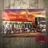 Wholesale Cheap Vintage Europe - Vintage metal painting bar decoration Cheap Tin sign HOT iron paintings Bar wall decoration