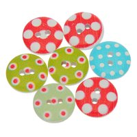 Wholesale Styles Wooden Clothing - New Apparel Sewing Fabric Buttons 10 style mix 100 pcs set Print 2 Holes Wooden Buttons 15mm Sewing Scrapbooking Crafts Clothing accessories
