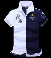 Wholesale Black Polo Large - 2016 High quality Polo Shirt polo homme Aeronautica Militare Short sleeve man Brands polo ralphmen sport shirt large size