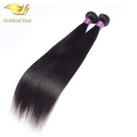 Wholesale Straight Indian Virgin Remy - Wholesale price Peruvian straight hair 1pc silk Mongolian Brazilain Malaysian natural color hair can be restled and dyed human hair weaves