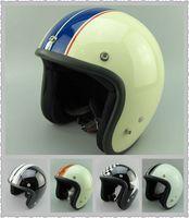 Wholesale Size S Half Helmet - free shipping wholesale 2016 casco capacetes motorcycle helmet vintage helmet high quality S M L XL size 3 4 open face scooter helmets