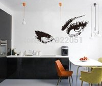 Wholesale Hepburn Wall Sticker - New design Audrey Hepburn 's Eyes Vinyl Wall Stickers Beauty Home decoration Creative Wall decals for Living Rooms Free Shipping