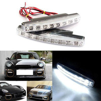 4pcs / lot Auto 8 LED Universal Car Light DRL Daytime Running Head Lamp Super White DIY CAR Decoração