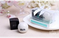 Wholesale Mr Salt Pepper - Wholesale- Wedding Favors Mr&Mrs Ceramic Pepper Shakers Wedding Gift Salt&Pepper Shaker Favors+FREE SHIPPING+ 200pcs lot(100sets)