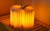 katlanır kitap ışığı toptan satış-Şarj çevirme kitaplar yaratıcı mini gece lambası, LED katlanır kitap ışık, edebi mizaç avizeler, başucu lambaları