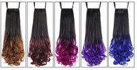 Wholesale Wig Pony Tail Holders - Wigs, horsetail, European, American, European and American women with large wavy fiber and high temperature filament