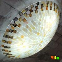 Wholesale Mediterranean Floor Lamps - Wholesale-New Vita brand Tiffany Mediterranean style natural shell ceiling lights lustres night light led lamp floor bar home lighting