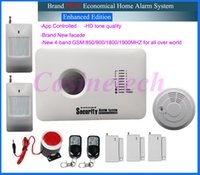Wholesale Cheap Home Alarm Security Systems - Cheap helpful Home security GSM alarm system with APP control,3 wired and 70 wireless defense zones Burglar Alarm System