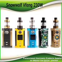 Wholesale Led Snow - 100% Original SnowWolf Vfeng Starter Kits Snow Wolf 230W TC Box Mods 1.30 Inch TFT Color LED Screen Update Sigelei Kaos kit Authentic