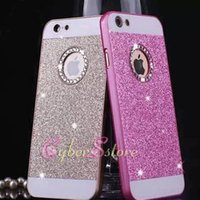 Wholesale Glitter Diamond Hard Iphone Case - For iPhone 7 6 5 4.7 plus Diamond Glitter Hard Cell Phone Back Case Cover for iphone7 6 6plus 5s