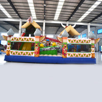Wholesale Inflatable Fun Land - AOQI inflatable fun city inflatable indian fun city inflatable fun land for kids for sale made in China