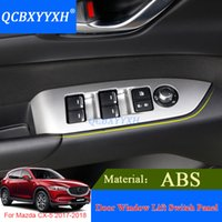 ABSBXYYXH 4pcs decorazione interna autoadesivi ABS Styling per Mazda CX-5 2017 2018 Sequins del pannello di interruttore di sollevamento della finestra dell'automobile della finestra dell'automobile