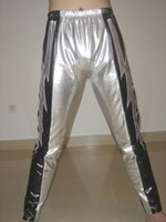 Wholesale Latex Clothing For Sale - Wholesale-Custom Silver Lightning gear Latex Rubber Youth Wrestling Singlet Clothes Pants For Sale H018