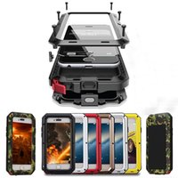 Metal Extreme Shockproof Militar Heavy Duty Tempered Glass Cover Case Skin para Apple iPhone 7 / 7S Iphone caso de smartphone