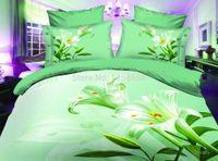 Wholesale Cotton Sheeting Material - Wholesale-3D bedding set polyester cotton materials queen size comforter set duvet cover bed sheet set, 4 pcs