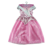 Wholesale sleep wear girls - Kids Girls Sleeping Beauty Princess Dress Cosplay Costumes Wear Perform Clothes Dresses,Wedding Party Dress