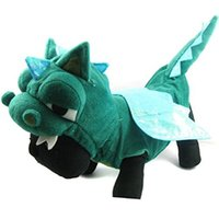 Wholesale Dinosaur Dog Clothes - Wholesale-Cute Dogs Cat Dinosaur pretty Costumes Clothes Apparel Green Color