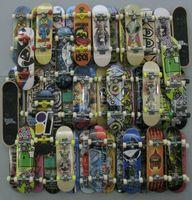 Wholesale Wholesale Skateboard Decks - Wholesale-30pcs Fingerboard Tech Decks throwbacks 96mm Skateboard Original boys toy by random