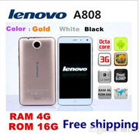 Wholesale lenovo k900 online - top seller new Original lenovo A808 MTK6592 Octa Core G RAM G ROM G WCDMA GPS quot IPS Android smart mobile Phone