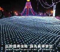 Wholesale Christmas Led Lights Series - 10M * 8M 2600 LED net light net light Courtyard park landscape lights Waterproof curtain lights LED lights series