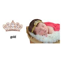 Wholesale Baby Crystal Crowns - Lovely Princess Tiara Headband Royal Baby Pearl Crown Baby Headband Rhinestone children accessories Crystal crown hair band Free Shipping
