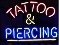 """Wholesale Neon Piercing - Tattoo and Piercing Parlor Shop Neon Sign Real Glass Tube Body Beautify Store Makeup Advertisement Display Neon Signs sale Promotion 17""""X14"""""""