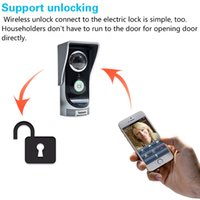 Wholesale Smart Peephole Viewer - Smart Peephole Viewer Camera 2.0 Megapixel Night Vision WIFI Door Bell Video Door Phone Home Wireless Digital Intercom Doorbell