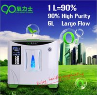 Wholesale Portable O2 Concentrator - 6LPM Home Portable Oxygen Concentrator, PSA Process Mini Oxygen Bar O2 Therapy Generator, DHL Free Shipping, Oxygen Machine.