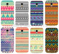 Wholesale Aztec Tribal S4 - Wholesale-3D Orange Purple Retro Classic Vintage Aztec Tribal Totem Mobile phone case cover skin Shell for Samsung galaxy S4 mini I9190