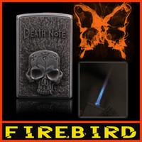 Wholesale Skull Butane Lighters - FIREBIRD Novelty Death Note Vintage Skull Lighters Butane Pipe Gas cigarette Torch Flame Windproof Lighter