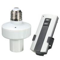 Wholesale E27 Screw Cap - Wholesale Durable E27 Screw Wireless Remote Control Light Lamp Bulb Holder Cap Socket Switch New On Off order<$18no track