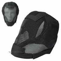 Wholesale Military Helmet Mask - Wire Guard Camouflage Tactical Helmet Fencing Mask Protective Military Black Color for Outdoor Activity Cycling 1pcs