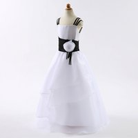 Wholesale Girl Spot Dress - spend children's wear white spot fine aglet applique pageant dress In Stock Flower Girl Dressessize 4 6 8 10 12