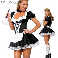 Wholesale Women S Lingerie For Men - cosplay costume for MOONIGHT Sexy Lingerie French Maid Costume Restaurant Waiteress Cosplay Sexy Halloween Costumes for Women