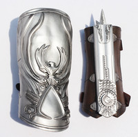 Wholesale Assassin Creed Ezio Toy - Assassins Creed Hidden Blade Brotherhood Ezio Auditore Gauntlet Replica Cosplay Chritmas Action Figures Toy Role play weapon props