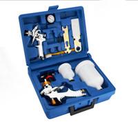 Wholesale Lvlp Gun - lvlp 2010 spray gun with hvlp H2000P mini detail painting sprayer case plastic kit