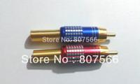 soldadura rca plug al por mayor-100 piezas de alta calidad Gold RCA Male Plug Solder Audio Video Adapter Connectors