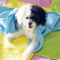 Gros-Serviette en microfibres Chiens Multicolor Velvet Sided serviette absorbante / Pet serviette microfibre Chiens 1 serviette pcs / lot