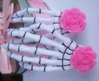 Wholesale Hair Clip Flowers For Girls - Fashion Resin Rose Flower Skeleton Claw for Girls Punk Harajuku Hair Accessories Ideal Gifts for Best Friends HJ111