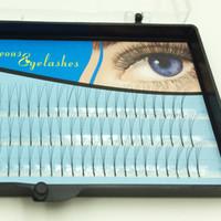 Wholesale Gorgeous Beauty - False Eyelashes Navina Individual Lashes Eyelashes Extension Fake Eyelashes Black Gorgeous Eye Lashes Eyes Makeup Beauty Tools 8mm 10mm 12mm