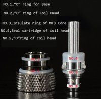 Wholesale Mt3 Coil Head Atomizer - Silicone Seals Atomizer Silicone Heater Insulated Ring Replaceable Coil Head O Ring for MT3 H2 Atomizer Protank Clearomizers