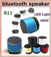 Wholesale S11 Wireless Bluetooth Mini Speaker - S11 Mini Super Bass Wireless Portable Bluetooth Speaker Support TF Card MP3 S-11 HiFi Beat Box Speakers for iphone 4 5 galaxy s4 3 s5 MIS017