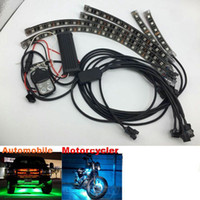 Wholesale Led Neon Kits - RGB Multi Color Flexible Strip Motorcycle 36 LED NEON Accent Light Kit Wireless