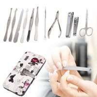 Wholesale best nail art set resale online - 12pcs Complete Nail Art Manicure Set Pedicure Nail Clippers Scissors Grooming Kit Best Nail Care Tools With Rigid Case